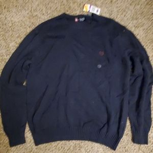 Chaps Crew Neck Sweater, blue, new